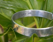 personalized hand stamped hidden message bracelet