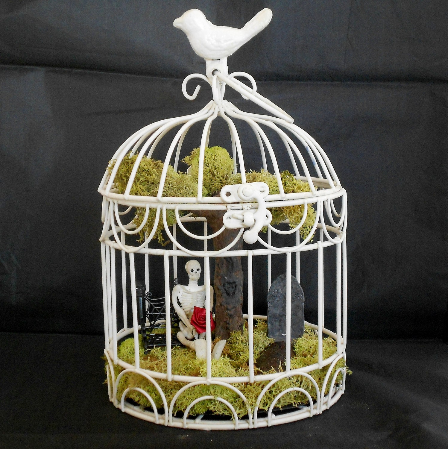Gothic home decor victorian gothic decorative bird cage for Bird home decor