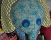 100 cotton fabric, plush stuffed toy Elephant 'Alice'
