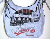 Upcycle Your Favorite T Shirt into a Cool Purse, Tote, Beach Bag or Backpack, This one is from Cheers in Boston