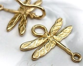 Dragonfly Hook clasp - Gold - Lead and Nickel Free - 20 X 22mm
