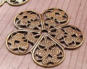 Brass filigree flower - stamping - 26mm - 2pcs