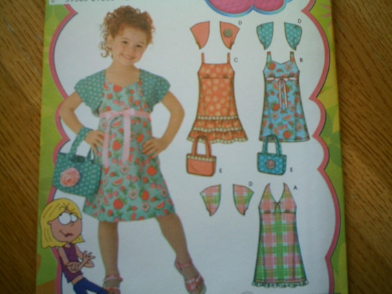 Simplicity 4248 Childs Dress Shrug and Bag Sizes 3-8 New