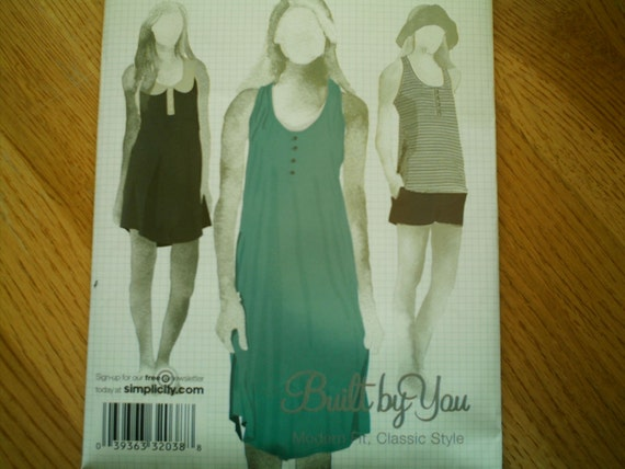 Simplicity 2865 Misses Knit Dress or Top Sizes 12-20 NEW
