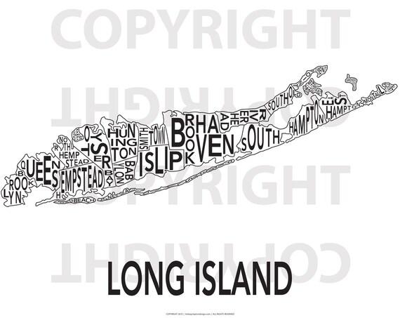 Urban Neighborhood Poster - Long Island - 24 x 36