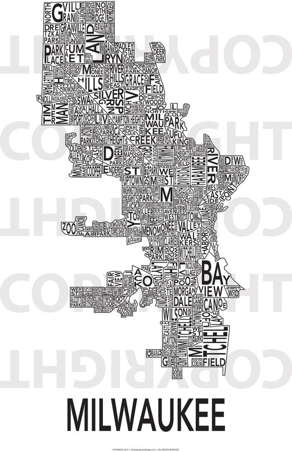 Urban Neighborhood Poster - Milwaukee - 24 x 36