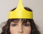 Princess Bubblegum Crown Costume Cosplay Adventure Time Yellow Blue Gem