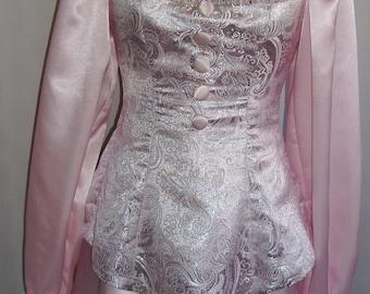 Ready to Ship! Pink Brocade Ringmaster Circus Lolita Costume Junior's Size 2 3 4