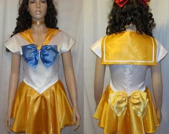 Plus Size Sailor Venus Scout Costume Cosplay Adult Women's Custom Fit 16 18 20 22 24 Sailor Moon