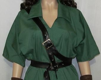 Link Legend of Zelda Green Tunic Cosplay Costume Men's Women's Size S M L XL