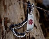 Bracelet - Beaded for Medical Alert ID Tag - Evening Sky