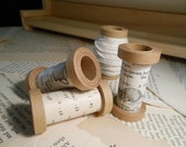 Set of 3 Spools - Made from Cardstock