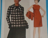 Vogue 1776 - One piece girl and jacket (1960s pattern) Size 12, Bust 32