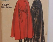 Vogue 8145 Misses Cape with Incorporated Cape, Bust 31.5-32.5, RARE