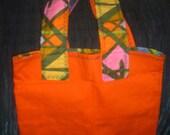 Orange Retro Tote Bag