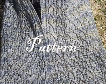 Shadows on the Moon Scarf Knitted Lace Pattern