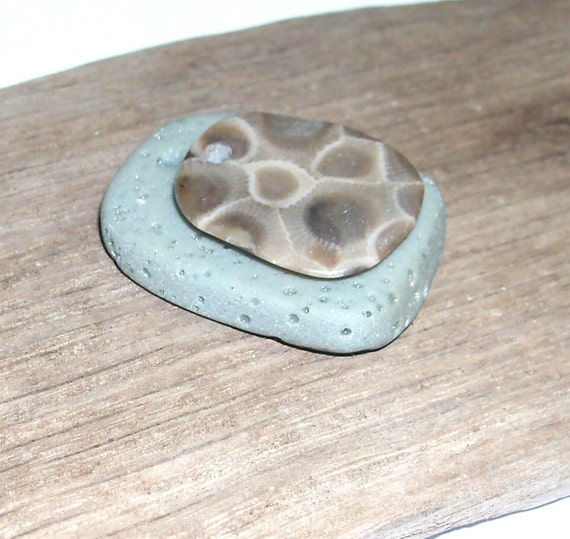 Petoskey Stone & Slag Glass Pebbles