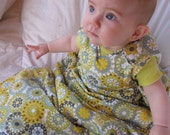 baby and toddler sleep sack, The Baby Snap Sack, snuggle down, goose down sleeping bag, size adjusts as baby grows, blue kaleidoscope