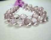 1/4 Strand - Large Sparkling Pink Amethyst Faceted Onion Briolettes (No. 1298)