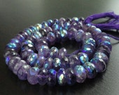 Rainbow Mystic African Amethyst Faceted Rondelles (No. 1561)