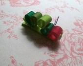 Little caterpillar hair clippie