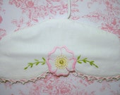Beautiful baby/toddler hanger covered in vintage linen