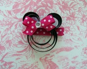 Mouse clippie with red or pink bow