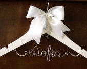 Flower Girl Hanger, Personalized for Wedding, Shower gift, Christening, Unique Gift for a new Mommy