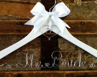 RUSH ORDER (Shipped Expedited, Xpresspost in Canada) -- Wedding Dress Hanger, Personalized Bridal Hanger, For a Bride or Graduate
