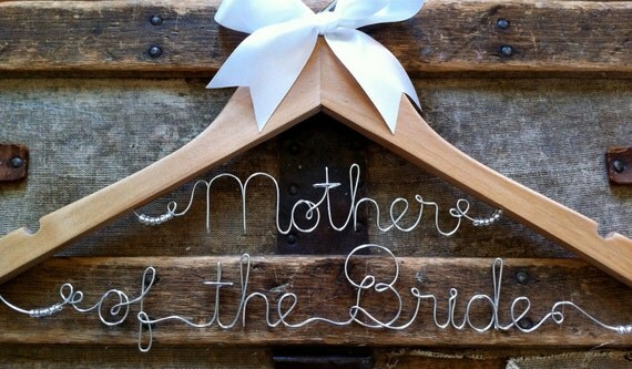 Personalized Mother of the Bride Hanger, Mother of the Groom Hanger, Custom Wedding Dress Hanger, a lovely gift for the Moms