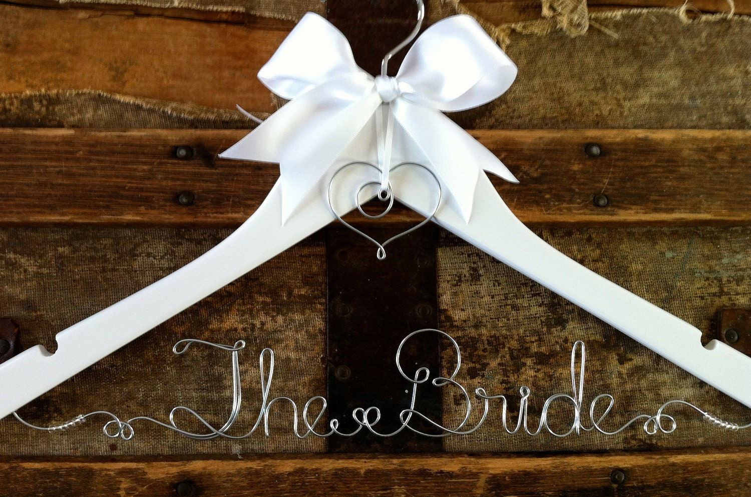 Blush black wedding on pinterest bridal hangers wedding for Personalised wedding dress hanger