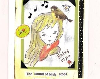 Thinking of you handmade greeting card