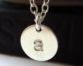 Initial Disc Necklace - 925 Sterling Silver/ Choose your Initial.....