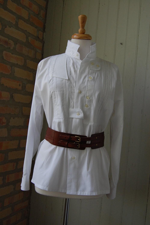 Womens White Tuxedo Shirt