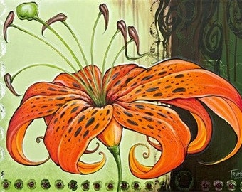 Tiger Lily by Shanna Trumbly- 12 x 18 Eco Paper Art Print