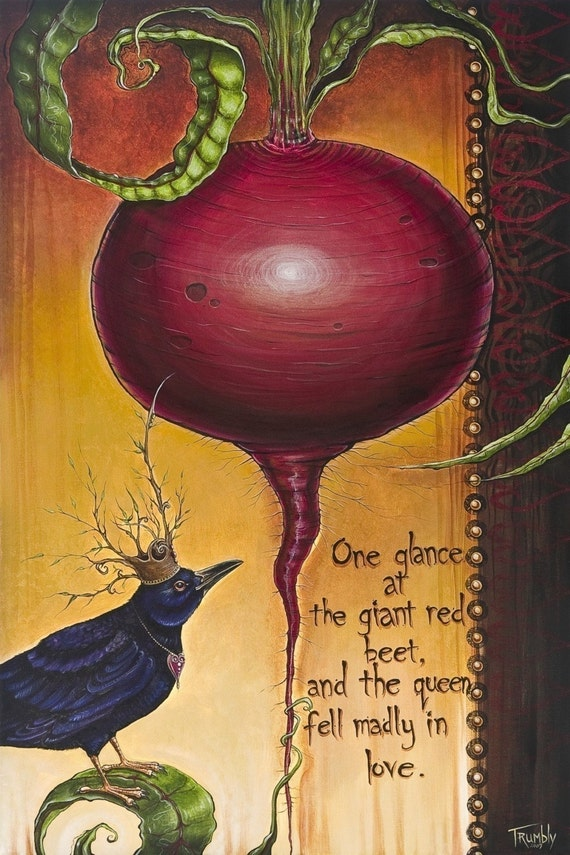 The Queen and The Beet by Shanna Trumbly-  Eco Paper Print
