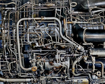 Lockheed Blackbird, Abstract Aero Engine Close Up - Limited Edition Fine Art Photography Wall Art - Various Sizes and Finishes