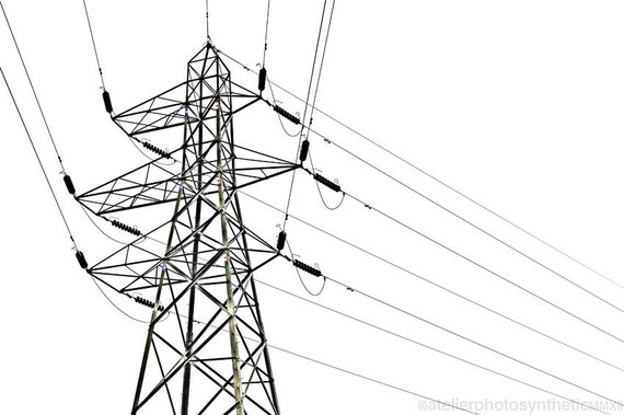 Geometric Power Lines, Steel Pylon, Transmission Tower - Signed Limited Edition Fine Art Photography - Various Sizes and Finishes Available