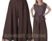 SunHeart Clothing Gold Diamonds rayon one-size PalaZZo Pants limited editions