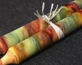 AUTUMN HARVEST - Torch Painted Candles