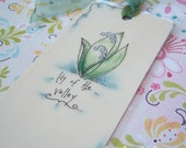 Lily of the Valley - Original Art Bookmark