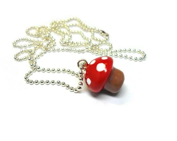 Lil' Mushroom Charm Necklace