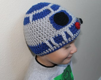 Star Wars Hat, R2D2 Hat, Droid Hat ALL sizes from Newborn to Teen
