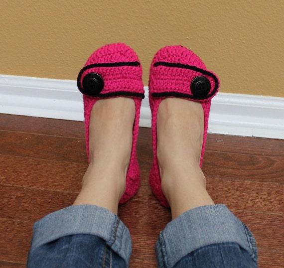 Women's Button House Shoes