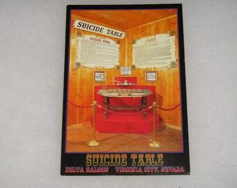 Unused Picture Postcard Suicide Table Delta Saloon Virginia City Nevada