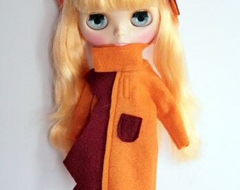 Silviacat - Cute coat for  Blythe and Pullip