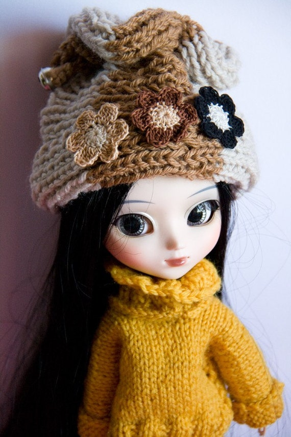 Silviacat OOAK hat for Blythe and Pullip
