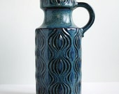 Turquoise West German Vase