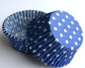 Blue Polka Dot Cupcake Liners (100)