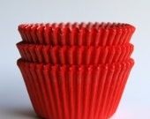 Red Cupcake Liners, Red Baking Cups, Valentine's Cupcakes (100)